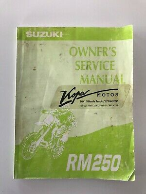 Suzuki RM 250 Owner's service manual used