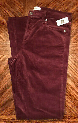 Gap Women's Corduroy Perfect Boot Pants 32R in Wine NEW