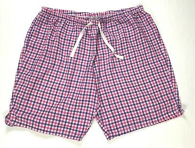 SIMPLY BASIC Womens Size 3X 22-24W Pink Purple Plaid Elastic Waist Sleep Shorts