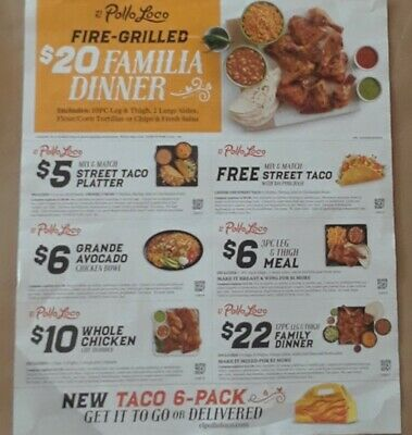 El Pollo Loco Coupons(Exp. 5/4/20), SUBWAY Coupons( 4/8/20)