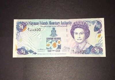 Cayman Islands Monetary Authority $1 Banknote 2003 P30a Small Bend At Top