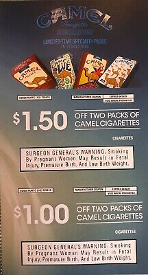 Camel Cigarette 2 Coupons Discount Expires 4/30/20