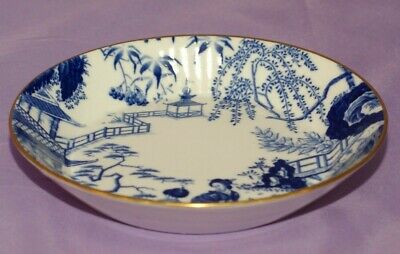 Small Royal Crown Derby BLUE MIKADO Candy Relish Condiment Bowl Dish