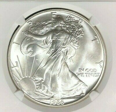 1986 American Silver Eagle Dollar - Ngc Ms 69 ~Beautiful Coin~ First Year Issue