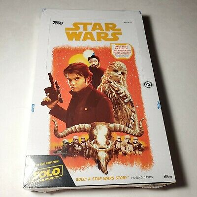 Star Wars Solo A Star Wars Story Factory Sealed 24 Card Hobby Box