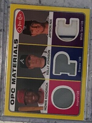 PS-26 2009 O-Pee-Chee Materials Howie Kendrick Kelly Johnson Jayson Nix