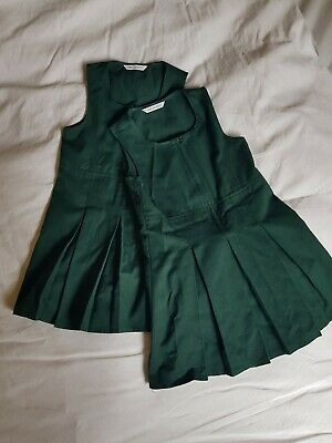 Girls Bottle Green School Winter Pinafore  Size 4-5 years from marks and spencer