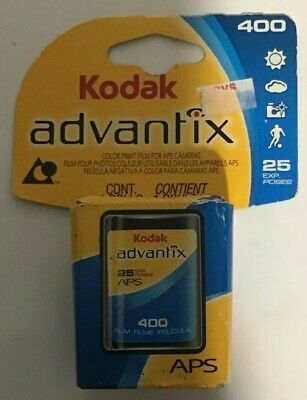 Kodak Advantix 400 Speed 25 Exposure APS Film Color Print APS Cameras 12/2009