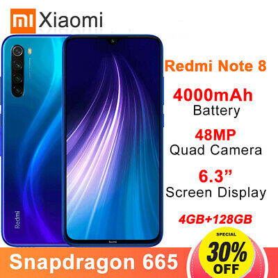 Globle Xiaomi Redmi Note8 128GB MIUI10 Snapdragon665 Octa Core 4G Mobile 4000mAh