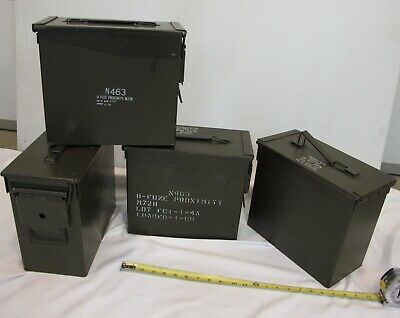 4 QTY - Tall 50 cal Ammo Cans  MADE IN USA   Free Shipping in the 48-States !