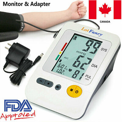 Automatic Arm Blood Pressure Monitor BP & Adapter Gauge Machine Tester Meter CA