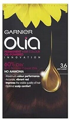 Garnier Olia Permanent Hair Dye, 3.6 Deep Cherry Red