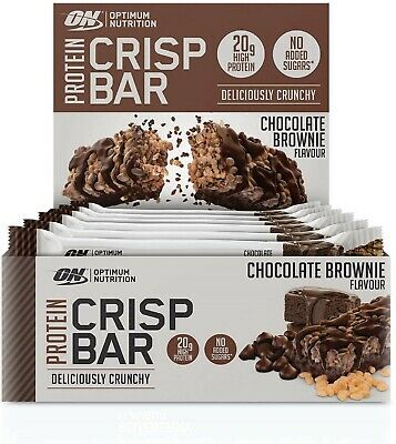 Optimum Nutrition Protein Crisp Bar with Whey Protein Isolate FREE POSTAGE