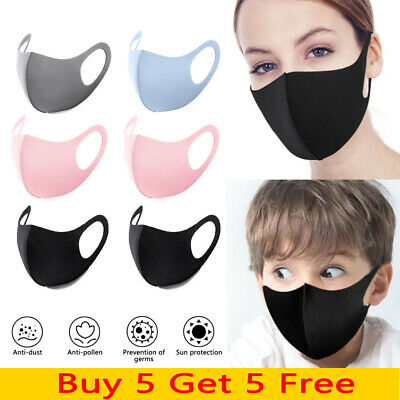 Adult Kids Anti Dust Haze Breathable Face Covers Reusable Mouth Nose Protection
