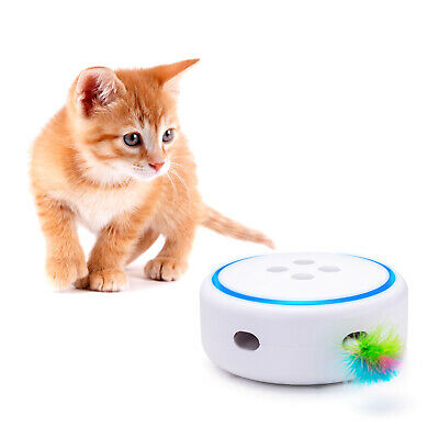 Automatic Interactive Cat Toy with Random Rotating Feather Electronic Pet Toys