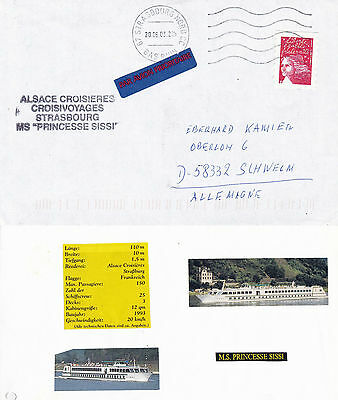 German River Ship Ms Princesse Sissi A Ships Cached Cover & 2 Sheets With Pics