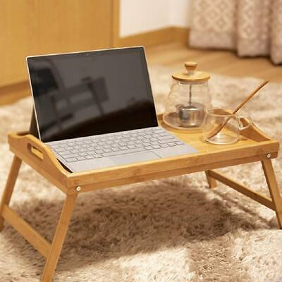 Bamboo Table Computer Portable Laptop Stand Folding Desk Bed Study Tray Wooden
