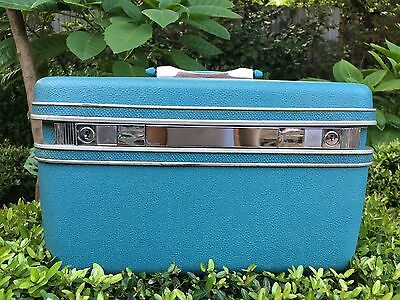 VTG SAMSONITE Hard Carry On Makeup Travel Cosmetic Train Case SILHOUETTE Luggage
