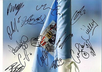 Coventry City FC Multi Signed 16 X 12 inch authentic football photo SS1040A