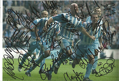 Coventry City FC Multi Signed 16 X 12 inch authentic football photo SS1040C