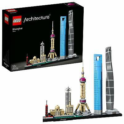 Lego Architecture Shanghai 21039 Brand New 597 Pieces Ages 12+ Free Shipping