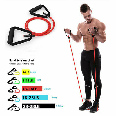 Resistance Bands Yoga Elastic Fitness Exercise Tube for Home Workouts Training