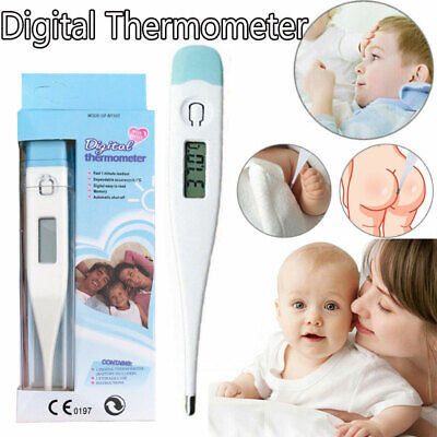 Digital LCD Thermometer Baby Kids Fever Alarm Safe Body Ear MouthTemperature UK