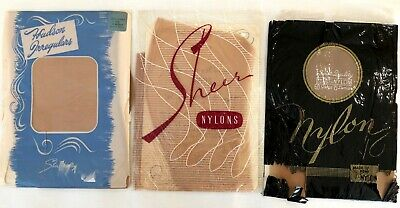Vintage Seamed Stockings, Fully Fashioned, Size 10, 3 pair NOS