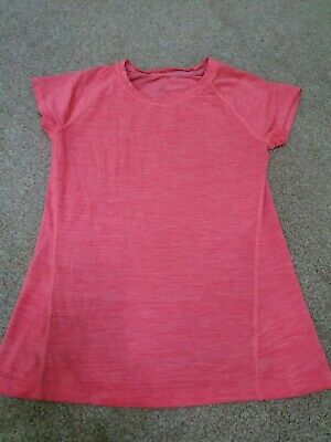 Girls H&M Sports Gym Yoga Workout Running Top Pink 10-12 Years