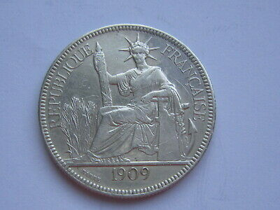 1909 FRENCH INDOCHINA Silver Coin