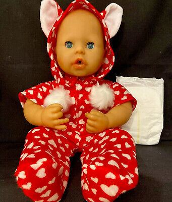 New Dolls Fleece Onsie Jumpsuit Nappy Fit Baby Born Annabell Dolls Clothes