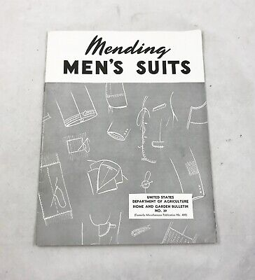 Mending Men's Suits , Published 1958 , 23 Pages , Illustrated