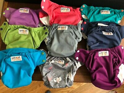 Lot of 9 Smart Bottoms Organic AIO diapers