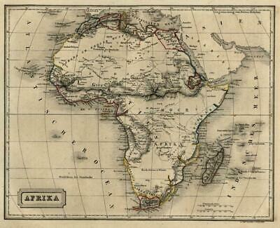 African Continent Mountains of the Moon Cape Colony 1854 Biller engraved map