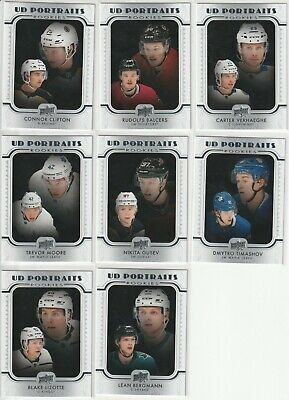 2019-20 Upper Deck Series 2 Ud Portraits (8 Cards Lot)