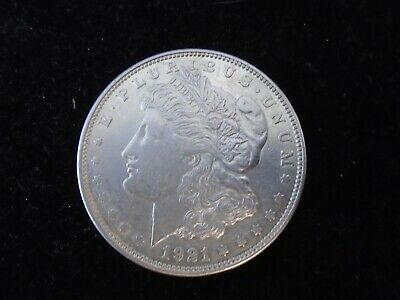1921 -D- Morgan Silver Dollar BU+