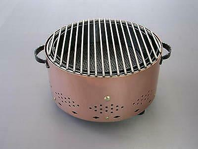Round Table Top Barbeque BBQ Copper Finish