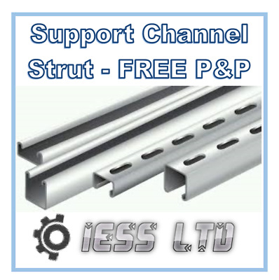 Unistrut compatible channel strut various sizes slotted or plain support strutt
