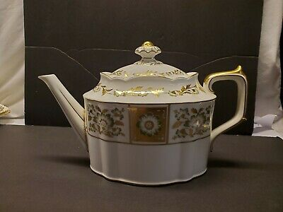 Royal Crown Derby Panel Green Teapot, Large Teapot,Made In England