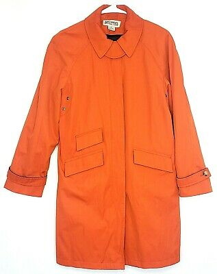 Michael Kors Womens Small Rain Trench Coat Lined Removable Body Warmer