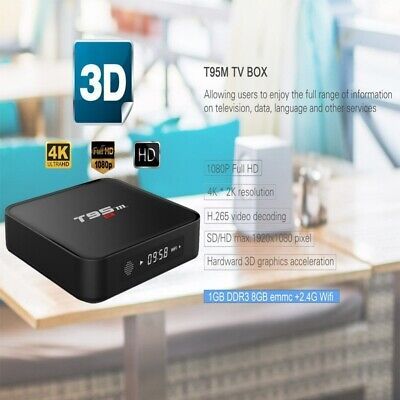 T95M Android TV Box 1+8GB Amlogic S905 Quad Core HDMI 4K WiFi 3D Meida Player