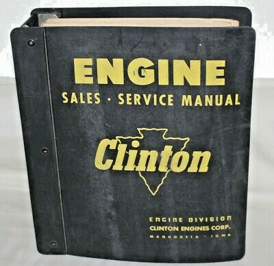 Clinton Engine Service Manual, Complete Reference, Old to New part #'s