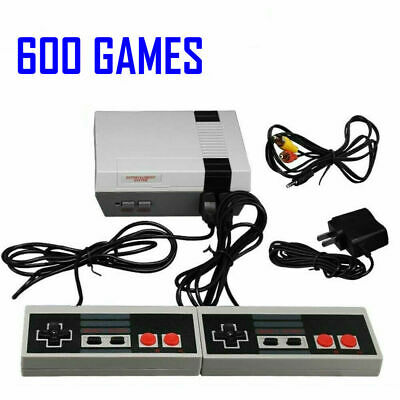 Retro Game Console 600 Built-in Mini Classic NES Games With 2 Controllers