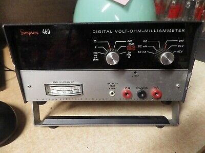 VINTAGE SIMPSON 460 Digital Volt-Ohm Meter MILLIAMMETER