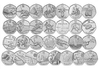Olympic 50p Coins - Choose Coin - Football Triathlon Wrestling Judo etc...