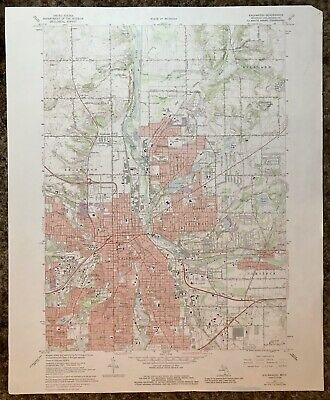 Kalamazoo Michigan 1973 Vintage USGS Topo Map 7.5 Series **Nice Railroad Map!**