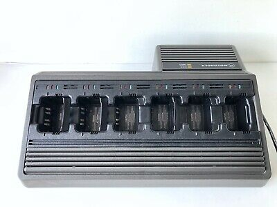 Battery Charger NTN1177B Motorola 6 Way Charger for Handheld Radios - Excellent
