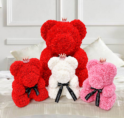 Dolls & Bears 25/40cm Rose Bear Foam Flower Lovely Teddy Valentine Birthday Gift