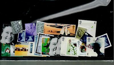 "GB Postage - 20 x Mixed Europe ""E"" (letters up to 20g) Stamps, FV £27.00...A0001"