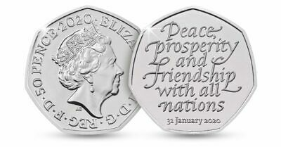 Official UK Brexit 50p Coin Brand New 31st January 2020 ....0004